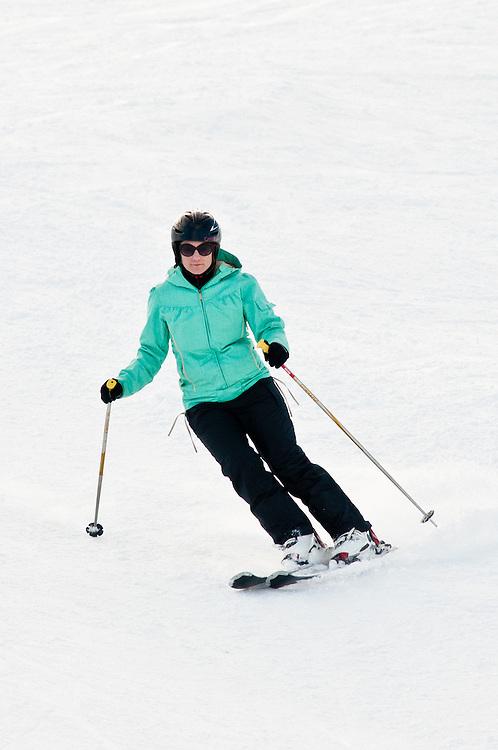 Anna Burtt skis on the Gravity Course, Winter Triathlon, Winter Games, Cardrona Ski Field, Saturday August 27, 2011...Photo by Mark Tantrum   www.marktantrum.com