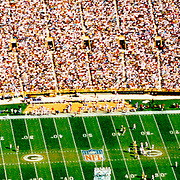 Aerial photograph of the Green Bay Packers Stadium, WI Aerial views of artistic patterns in the earth.