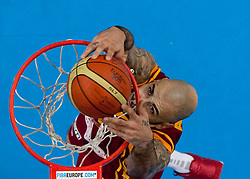 Pero Antic of Macedonia during basketball game between National basketball teams of Spain and F.Y.R. of Macedonia in Semifinals  of FIBA Europe Eurobasket Lithuania 2011, on September 16, 2011, in Arena Zalgirio, Kaunas, Lithuania. Spain defeated Macedonia 92-80.  (Photo by Vid Ponikvar / Sportida)