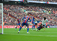 Marouane Fellaini of Manchester United heads the ball wide during the FA Cup Final at Wembley Stadium, London<br /> Picture by Alan Stanford/Focus Images Ltd +44 7915 056117<br /> 21/05/2016