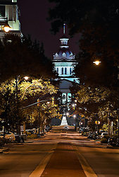 Main Street at night, Columbia, South Carolina (SC).