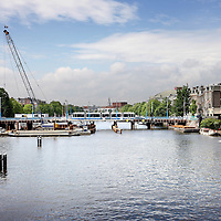 Nederland, Amsterdam , 12 juli 2010..Renovatie Hogesluisbrug..Renovation bridge in Amsterdam.
