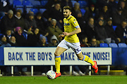 Stuart Dallas (15) of Leeds United during the EFL Sky Bet Championship match between Reading and Leeds United at the Madejski Stadium, Reading, England on 12 March 2019.