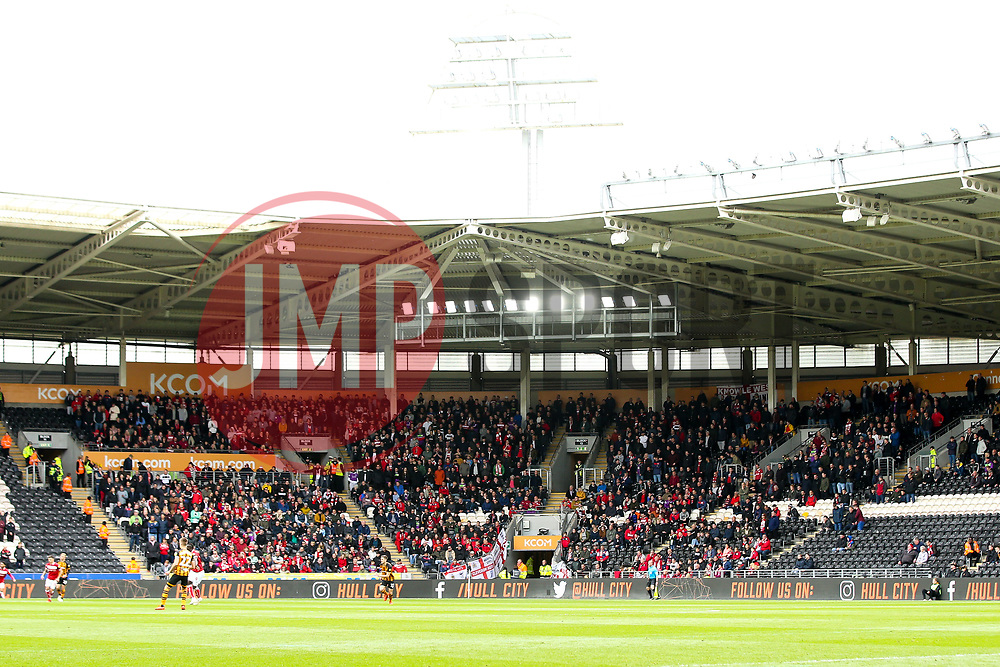Bristol City fans at Hull City - Mandatory by-line: Robbie Stephenson/JMP - 05/05/2019 - FOOTBALL - KCOM Stadium - Hull, England - Hull City v Bristol City - Sky Bet Championship