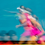 August 20, 2016, New Haven, Connecticut: <br /> Jacqueline Cako in action during a US Open National Playoffs match at the 2016 Connecticut Open at the Yale University Tennis Center on Saturday, August  20, 2016 in New Haven, Connecticut. <br /> (Photo by Billie Weiss/Connecticut Open)