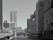 Looking North on the South Branch of the Chicago River