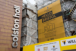 "© Licensed to London News Pictures; 15/06/2020; Bristol, UK. File Picture dated 11/06/2020. Today, 15/06/2020, the signs and letters saying ""Colston Hall"" were removed from Bristol's largest music and entertainment venue over ongoing controversy with the name being associated with the 17th century slave trader Edward Colston. In 2017 Bristol Music Trust had said they would change the name when the hall was refurbished, but with continuing delays and the recent Black Lives Matters events the name removal has been brought forward, despite the new name not yet being announced. The name removal comes just over a week after the statue of Edward Colston which has stood in Bristol city centre for over 100 years was pulled down by protestors and thrown in Bristol Docks during a Black Lives Matters rally and march through the city centre. The rally was held in memory of George Floyd, a black man who was killed on May 25, 2020 in Minneapolis in the US by a white police officer kneeling on his neck for nearly 9 minutes. Edward Colston (1636 – 1721) was a wealthy Bristol-born English merchant involved in the slave trade, a Member of Parliament and a philanthropist. He supported and endowed schools, almshouses, hospitals and churches in Bristol, London and elsewhere, and his name is commemorated in several Bristol landmarks, streets, three schools and the Colston bun. The killing of George Floyd has seen widespread protests in the US, the UK and other countries against both modern day racism and historical legacies of slavery. Photo credit: Simon Chapman/LNP."