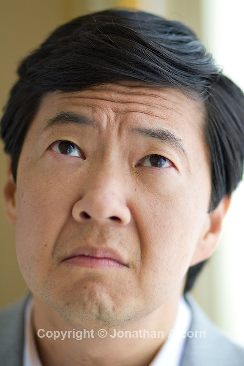 5-16-2011 Beverly Hills, CA.Actor Ken Jeong, the actor known for his crazy onscreen antics, including in The Hangover - with it's sequel being released soon, poses at a press junket at in Beverly Hills. Jeong also holds a medical degree.