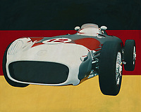 The 1956 Mercedes W196 Silver Arrow won many races for Mercedes in the 1950's; then Mercedes made its name and the Mercedes W196 Silver Arrow is the forerunner, say the beginning, of what Mercedes is doing these days in Formula 1.<br />