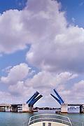 Intracoastal Waterway, Miami Florida, Draw Bridge, Opening, Miami, Florida, Skyline