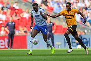 Tranmere Rovers defender Emmanuel Monthe (6) and Newport County forward Jamille Matt (11) during the EFL Sky Bet League 2 Play Off Final match between Newport County and Tranmere Rovers at Wembley Stadium, London, England on 25 May 2019.