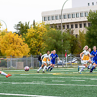4th year forward Brianna Wright (7) of the Regina Cougars during the Women's Soccer Homeopener on September 16 at U of R Field. Credit: Casey Marshall/Arthur Images