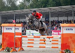 Kalf Cristel (NED) - Eduardo<br /> 4 jarige Springpaarden<br /> KWPN Paardendagen Ermelo 2013<br /> © Dirk Caremans