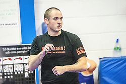 Dutch Krav Maga Instructor Stef Noij Expert 1, from the Institute Krav Maga Netherlands, takes the IKMS G Level Programme seminar today at the Scottish Martial Arts Centre, Alloa.