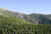 hiking trip to franconia notch, nh with fall foliage