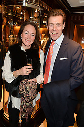 JAMES OGILVY and GERALDINE van HEEMSTRA  at a party to celebrate the publication of 'A Designer's Life' by Nicky Haslam held at Ralph Lauren, 1 New Bond Street, London on 19th November 2014.