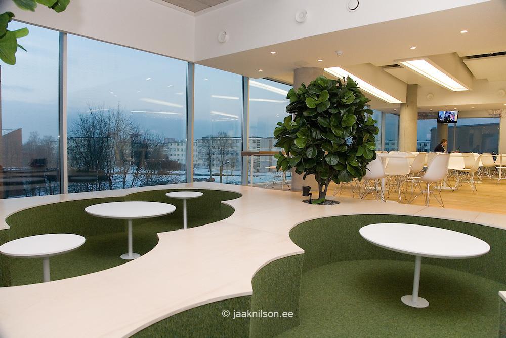 Diner in Modern Skype Office, Tallinn, Estonia