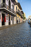 Calle Cristo cobblestoned streets and Spanish colonial architecture