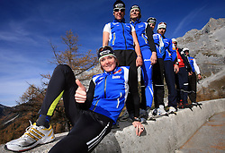 Slovenian team of nordic skiing at practice of Slovenian Cross country National team before new season 2008/2009, on October 22, 2008, glacier Dachstein, Ramsau, Austria. (Photo by Vid Ponikvar / Sportida).