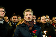 16.02.2015. Copenhagen, Denmark.<br /> Copenhagen Lord Mayor Frank Jensen attended a memorial rally for the victims and those injured in the attacks respectively Krudtt&oslash;nden and synagogue in Copenhagen.<br /> Photo: &copy; Ricardo Ramirez