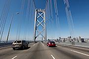 The Bay bridge driving from Oakland to San Francisco, California (Photo by Brian Garfinkel)