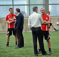 LIVERPOOL, ENGLAND - Tuesday, May 12, 2009: Ex-Liverpool player Ian Rush interviewed after a training session at Melwood as the players prepare for the Hillsborough Memorial Game in aid of the Marina Dalglish Appeal which will be staged at Anfield on May 14. (Photo by Dave Kendall/Propaganda)