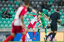 Rok Kidric, Branko Ilic during football match between NK Olimpija Ljubljana and Aluminij in Round #9 of Prva liga Telekom Slovenije 2018/19, on September 23, 2018 in Stozice Stadium, Ljubljana, Slovenia. Photo by Morgan Kristan