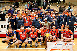 Players of ACH after the volleyball match between ACH Volley and UKO Kropa at Finals of Slovenian Cup 2010, on December 21, 2010 in Dvorana OS, Nova Gorica, Slovenia. ACH Volley defeated Kropa 3-0 and become Slovenian Cup Champion. (Photo By Vid Ponikvar / Sportida.com)