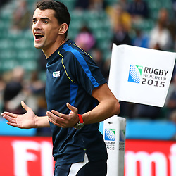 LONDON, ENGLAND - OCTOBER 18: Pascal Gauzère (France) during the Rugby World Cup Quarter Final match between Australia v Scotland at Twickenham Stadium on October 18, 2015 in London, England. (Photo by Steve Haag)