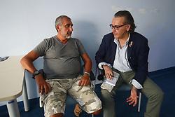 IL PADRE DEL BAMBINO STEFANO PARTIGIANI ALL'OSPEDALE DI CONA<br /> MORTALE BAMBINO FILIPPO PARTIGIANI SANT'EGIDIO