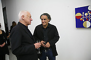Michael Craig-Martin and Gabriel Orozco, Work by Mexican artist, Gabriel Orozco. Gallery opening & private view at new White Cube space, 25-26 Mason's Yard, London and afterwards at Claridges. London. 27 September 2006. <br /> -DO NOT ARCHIVE-© Copyright Photograph by Dafydd Jones 66 Stockwell Park Rd. London SW9 0DA Tel 020 7733 0108 www.dafjones.com