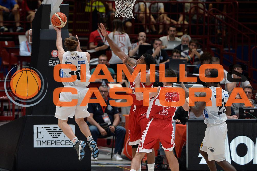 Forray Andres<br /> Olimpia EA7 Emporio Armani Milano vs Dolomiti Energia Trentino<br /> Lega Basket Serie A 2016/2017<br /> PlayOff semifinale gara 2<br /> Milano 27/05/2017<br /> Foto Ciamillo-Castoria / I.Mancini