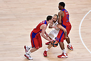 DESCRIZIONE : Madrid Eurolega Euroleague 2014-15 Final Four Semifinal Semifinale Cska Moscow Olympiacos Piraeus Athens Cska Mosca Olympiacos Atene <br /> GIOCATORE : Nando De Colo<br /> SQUADRA : CSKA Mosca<br /> CATEGORIA : palleggio difesa blocco<br /> EVENTO : Eurolega 2014-2015<br /> GARA : Cska Mosca Olympiacos Atene<br /> DATA : 15/05/2015<br /> SPORT : Pallacanestro<br /> AUTORE : Agenzia Ciamillo-Castoria/GiulioCiamillo<br /> Galleria : Eurolega 2014-2015<br /> DESCRIZIONE : Madrid Eurolega Euroleague 2014-15 Final Four Semifinal Semifinale Cska Moscow Olympiacos Piraeus Athens Cska Mosca Olympiacos