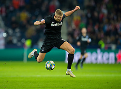 SALZBURG, AUSTRIA - Tuesday, December 10, 2019: FC Salzburg's Erling Braut Håland during the final UEFA Champions League Group E match between FC Salzburg and Liverpool FC at the Red Bull Arena. (Pic by David Rawcliffe/Propaganda)