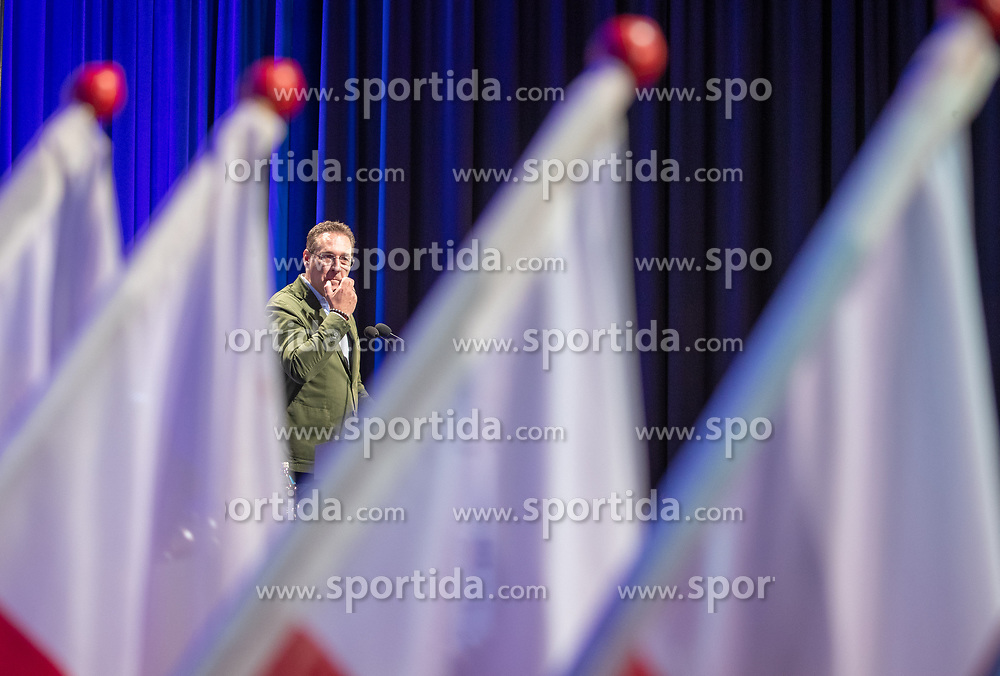 06.04.2019, Congresspark, Igls, AUT, 32. Ordentlicher Landesparteitag der FPÖ Tirol, am Freitag, 12. April 2019, während dem 32. Ordentlicher Landesparteitag der FPÖ Tirol, in Igls, im Bild Bundesparteiobmann VK Heinz-Christian Strachea // during the 32th Ordinary party convention of the FPÖ Tyrol at the Congresspark in Igls, Austria on 2019/04/06. EXPA Pictures © 2019, PhotoCredit: EXPA/ Johann Groder