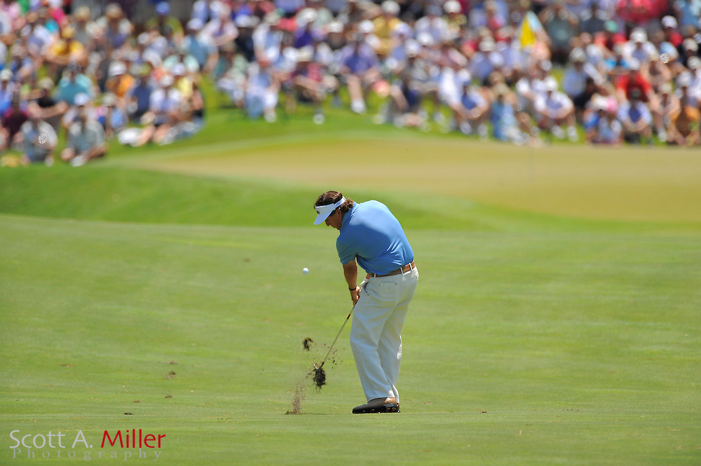 Phil Mickelson during the first round of the Players Championship at the TPC Sawgrass on May 10, 2012 in Ponte Vedra, Fla. ..©2012 Scott A. Miller..