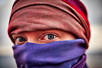 Blue Eyes wearing a Niqab. Image taken with a Fuji X-T1 camera and 35 mm f/1.4 lens (ISO 200, 35 mm, f/1.8, 1/125 sec).