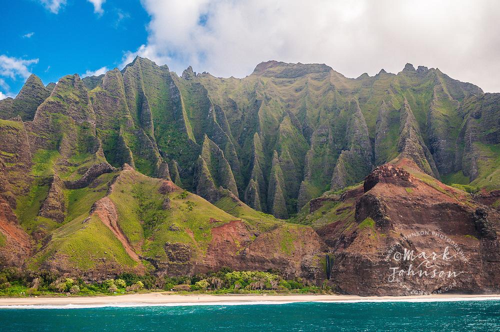 Kalalau Beach & valley, Na Pali coast, Kauai, Hawaii