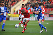 Rotherham United player Kyle Vassell (7) and Bristol Rovers defender Alfie Kilgour (15)  during the EFL Sky Bet League 1 match between Rotherham United and Bristol Rovers at the AESSEAL New York Stadium, Rotherham, England on 18 January 2020.
