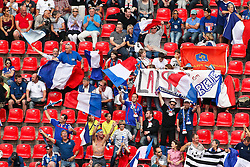 09.07.2011, FIFA Frauen-WM-Stadion Leverkusen, Leverkusen, GER, FIFA Women Worldcup 2011, Viertelfinale, England (ENG) vs. Frankreicht (FRA), im Bild:  Fans aus Frankreich feiern.. // during the FIFA Women´s Worldcup 2011, Quaterfinal, England vs France on 2011/07/09, FIFA Frauen-WM-Stadion Leverkusen, Leverkusen, Germany.   EXPA Pictures © 2011, PhotoCredit: EXPA/ nph/  Mueller *** Local Caption ***       ****** out of GER / CRO  / BEL ******
