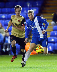 Peterborough United's Grant McCann in action with Leyton Orient's David Mooney - Photo mandatory by-line: Joe Dent/JMP - Tel: Mobile: 07966 386802 02/11/2013 - SPORT - FOOTBALL - London Road Stadium - Peterborough - Peterborough United v Leyton Orient - Sky Bet League One