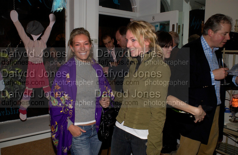 Olivia Buckingham and Natalie Burgin, Chippi Hacki launch party.New children's clothes shop by Lady Emily Compton. 8 Motcomb St. London SW1. ONE TIME USE ONLY - DO NOT ARCHIVE  © Copyright Photograph by Dafydd Jones 66 Stockwell Park Rd. London SW9 0DA Tel 020 7733 0108 www.dafjones.com