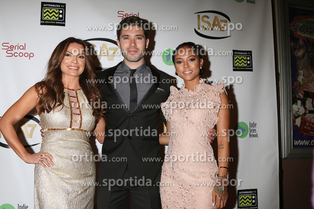 Lilly Melgar, Kristos Andrews, Karrueche Tran at the 7th Annual Indie Series Awards at the El Portal Theater on April 6, 2016 in North Hollywood, CA. EXPA Pictures © 2016, PhotoCredit: EXPA/ Photoshot/ Kerry Wayne<br /> <br /> *****ATTENTION - for AUT, SLO, CRO, SRB, BIH, MAZ, SUI only*****