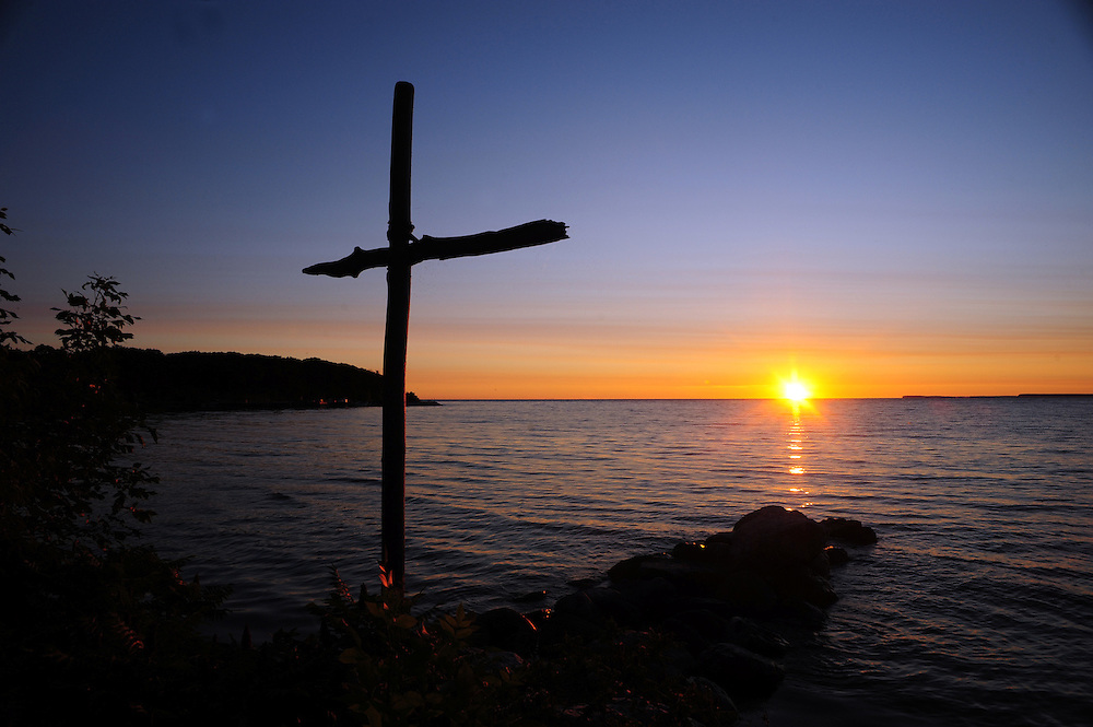 The sun rises over Lake Michigan on Chambers Island in Door County. (Sam Lucero photo)