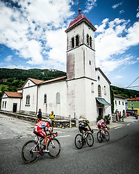 Andrea Vendrame (ITA) of Androni Giocattoli - Sidermec, Jhoan Esteban Chaves Rubio (COL) of Mitchelton - Scott, Fausto Masnada (ITA) of Androni Giocattoli - Sidermec during 4th Stage of 26th Tour of Slovenia 2019 cycling race between Nova Gorica and Ajdovscina (153,9 km), on June 22, 2019 in Slovenia. Photo by Vid Ponikvar / Sportida