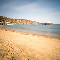 Malibu Pier at Surfrider Beach in Malibu California. Malibu is a beach city along the Pacific Ocean in the Western United States