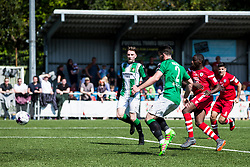 NEWTOWN, WALES - Sunday, May 6, 2018: Michael Bakare of Conahs Quay Nomads scores his sides first goal  during the FAW Welsh Cup Final between Aberystwyth Town and Connahs Quay Nomads at Latham Park. (Pic by Paul Greenwood/Propaganda)