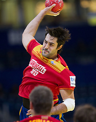 Raul Entrerrios of Spain during handball match between Croatia and Spain for 3rd place game at 10th EHF European Handball Championship Serbia 2012, on January 29, 2012 in Beogradska Arena, Belgrade, Serbia.  (Photo By Vid Ponikvar / Sportida.com)