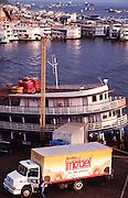 Manaus. Boats at the harbour at Rio Negro (Amazonas).