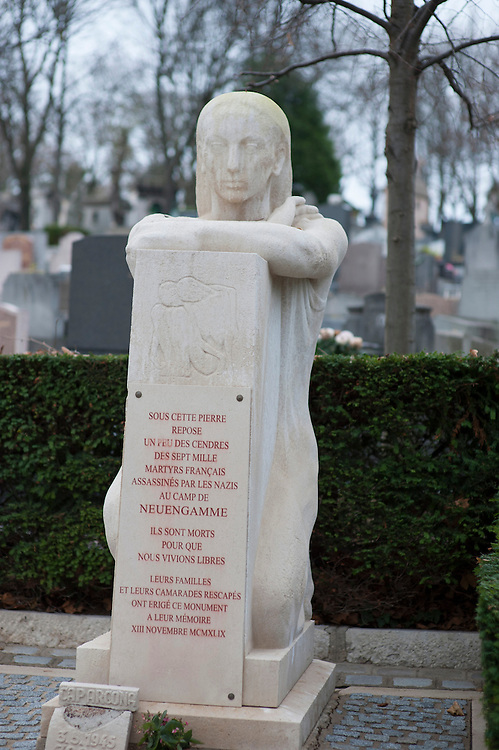 Neuengamme Concentration Camp Memorial, Pere Lachaise Cemetery, Paris, France